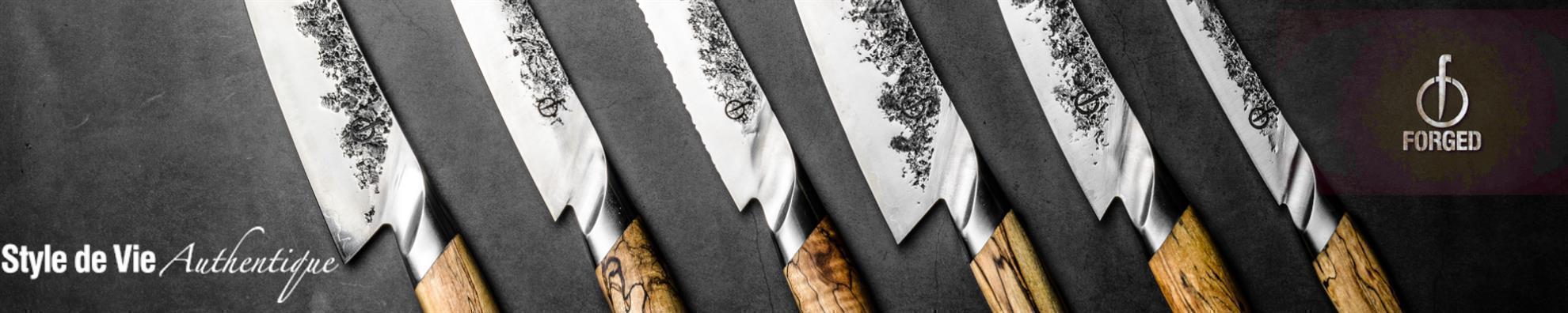 Forged - Intense 3-tlg. Messerset - Kochmesser, Hackbeil, Universalmesser