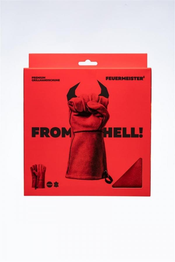 Feuermeister - Grillhandschuhe Leder Rot Gr. 12 (Paar)