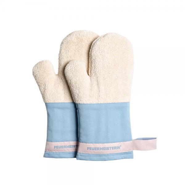 Feuermeister - Baumwollhandschuhe blau/rosa (Paar)