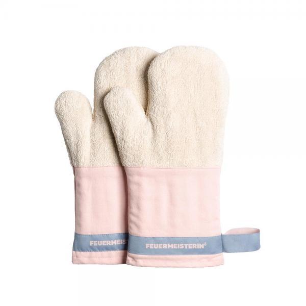Feuermeister - Baumwollhandschuhe rosa/blau (Paar)